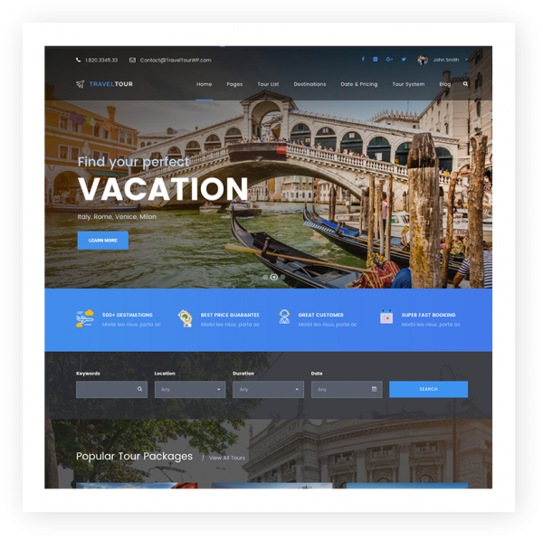 seo optimized travel websites